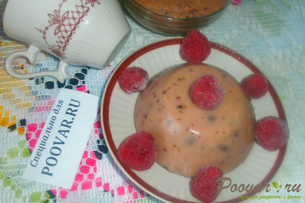 Пудинг на манке с ягодами Изображение
