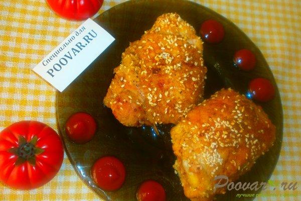Куриные бёдрышки с кунжутом Изображение