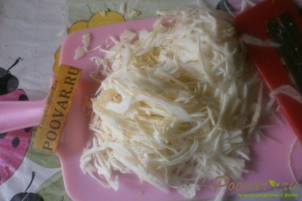 Салат из капусты и яичных блинчиков Шаг 3 (картинка)