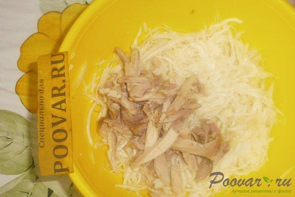 Салат из капусты и яичных блинчиков Шаг 7 (картинка)