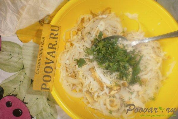 Салат из капусты и яичных блинчиков Шаг 15 (картинка)