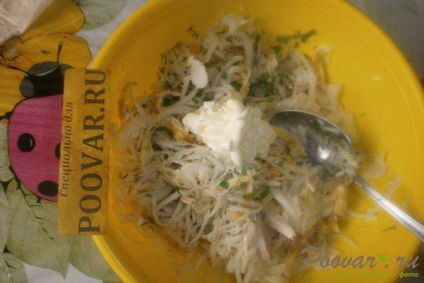 Салат из капусты и яичных блинчиков Шаг 16 (картинка)