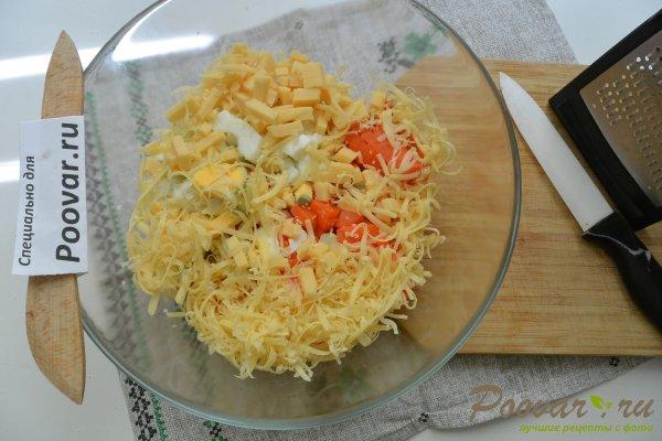 Салат из моркови с сыром и яйцами Шаг 6 (картинка)