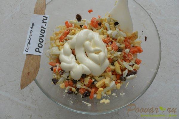 Салат из моркови с сыром и яйцами Шаг 9 (картинка)