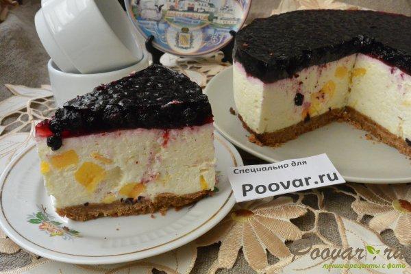 Чизкейк без выпечки с фруктами и желе Шаг 20 (картинка)