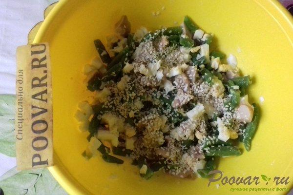 Салат из стручковой фасоли с грибами Шаг 10 (картинка)