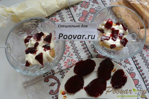 Десерт с печеньем савоярди и шоколадом Шаг 13 (картинка)