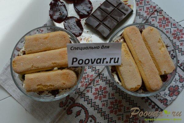 Десерт с печеньем савоярди и шоколадом Шаг 17 (картинка)