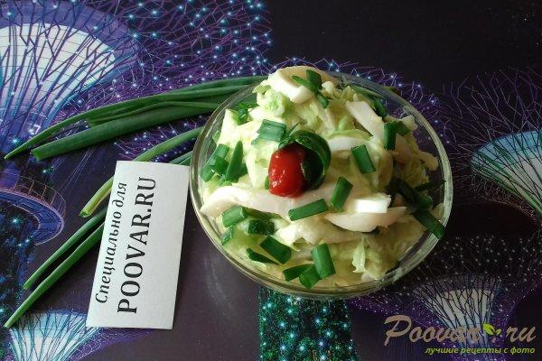 Салат с капустой и кальмарами Изображение
