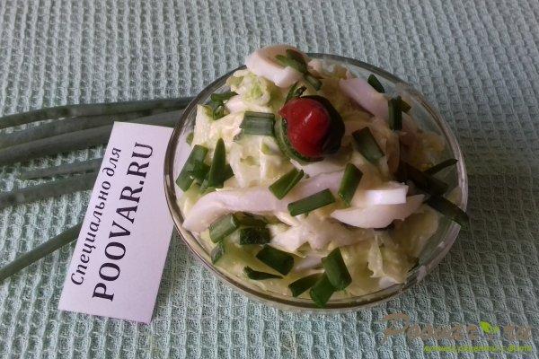 Салат с капустой и кальмарами Шаг 13 (картинка)
