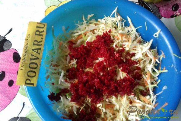 Салат из капусты со свёклой и яблоком Шаг 10 (картинка)
