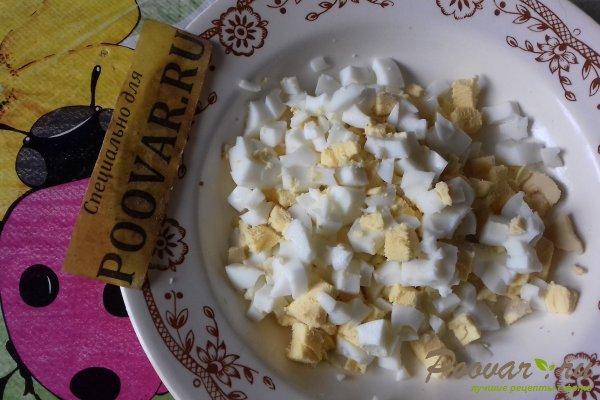Тёртый пирог с луком, яйцом и сыром Шаг 9 (картинка)