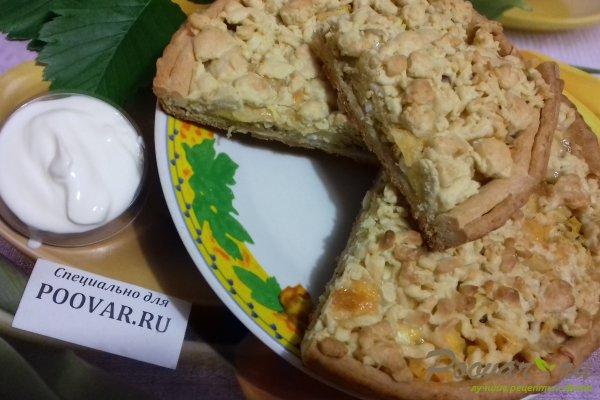 Тёртый пирог с луком, яйцом и сыром Шаг 18 (картинка)