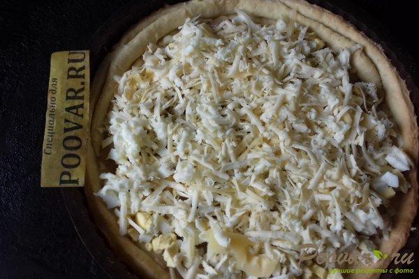 Тёртый пирог с луком, яйцом и сыром Шаг 15 (картинка)