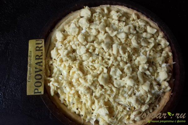 Тёртый пирог с луком, яйцом и сыром Шаг 16 (картинка)