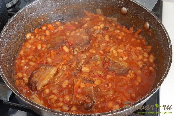 Тушеная фасоль с мясом на сковороде Шаг 10 (картинка)