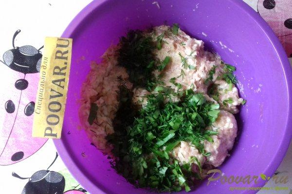 Слойки с мясом и зеленью из слоёного теста Шаг 6 (картинка)