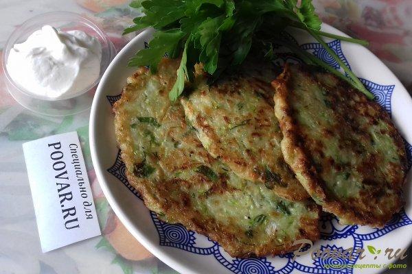 Оладьи из кабачков с картофелем Изображение