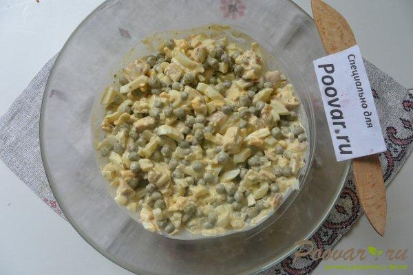 Салат из куриной грудки, яиц и зелёного горошка Шаг 17 (картинка)