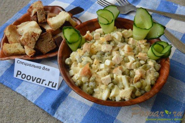 Салат из куриной грудки, яиц и зелёного горошка Шаг 18 (картинка)