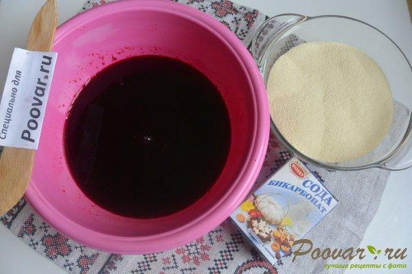 Манник на вишневом соке с ежевикой Шаг 2 (картинка)