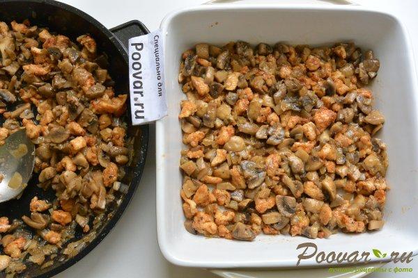 Запеканка из макарон с грибами и мясом Шаг 12 (картинка)