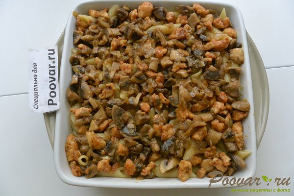 Запеканка из макарон с грибами и мясом Шаг 14 (картинка)