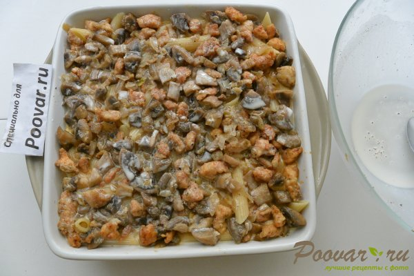 Запеканка из макарон с грибами и мясом Шаг 15 (картинка)