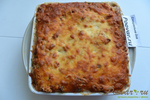 Запеканка из макарон с грибами и мясом Шаг 18 (картинка)