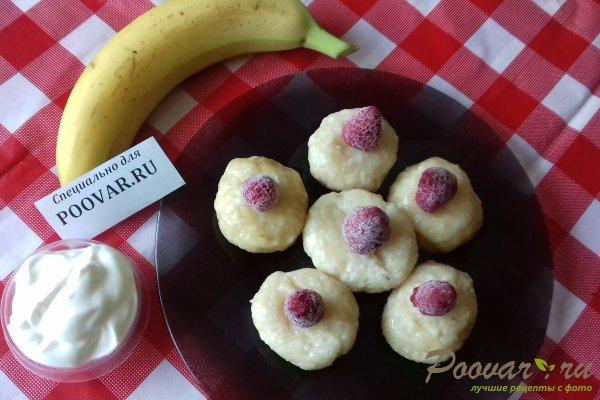 Ленивые вареники из творога с бананом Изображение