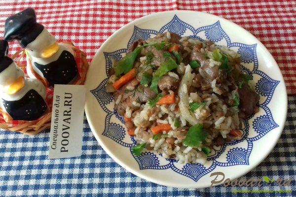 Рис и чечевица с куриными субпродуктами Шаг 16 (картинка)