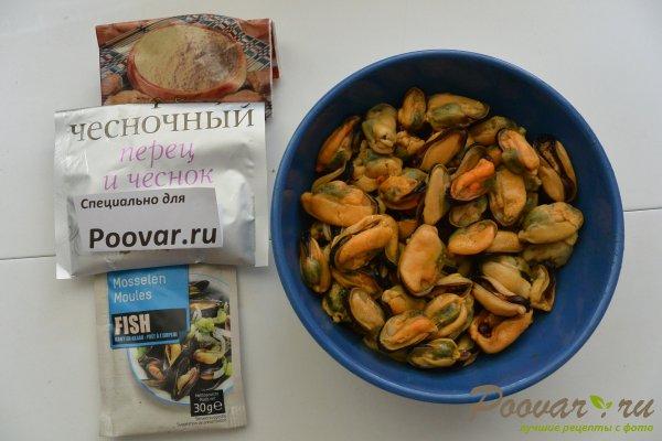 Паста с мидиями в сливочно-чесночном соусе Шаг 1 (картинка)