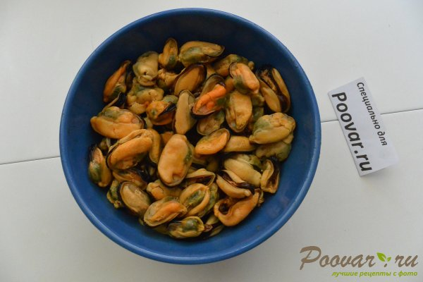 Паста с мидиями в сливочно-чесночном соусе Шаг 2 (картинка)