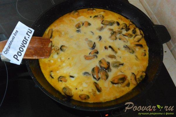 Паста с мидиями в сливочно-чесночном соусе Шаг 5 (картинка)