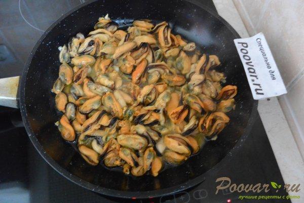 Паста с мидиями в сливочно-чесночном соусе Шаг 4 (картинка)