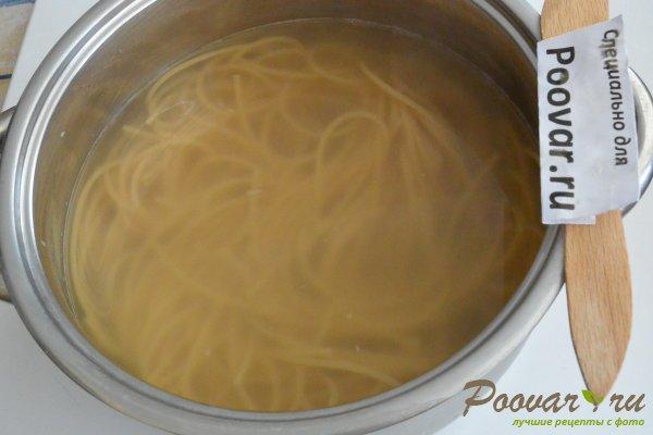Паста с мидиями в сливочно-чесночном соусе Шаг 11 (картинка)