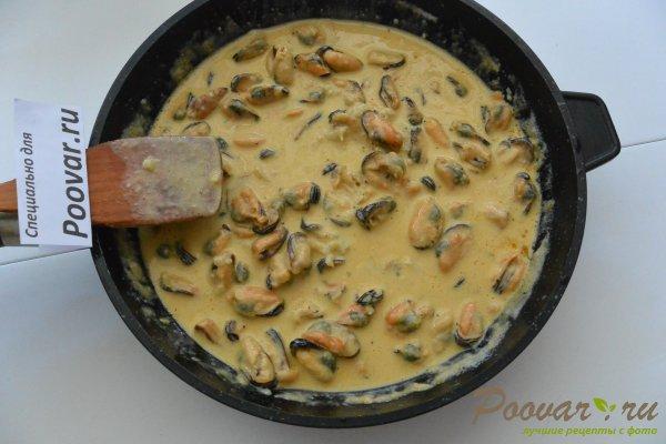 Паста с мидиями в сливочно-чесночном соусе Шаг 9 (картинка)