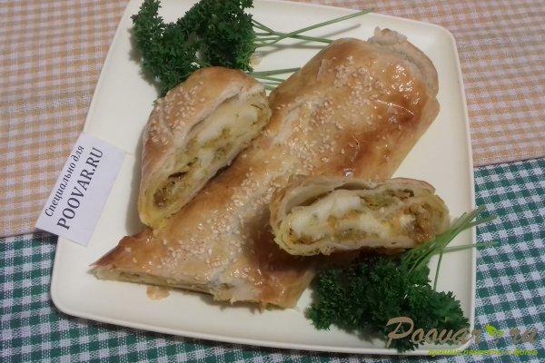 Штрудель с овощами и сыром Изображение