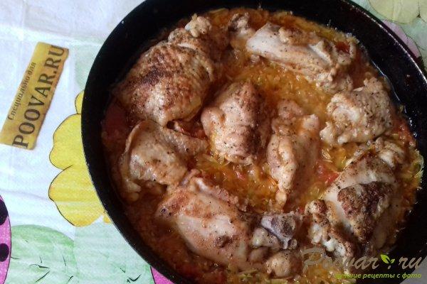 Курица на овощной подушке Шаг 13 (картинка)