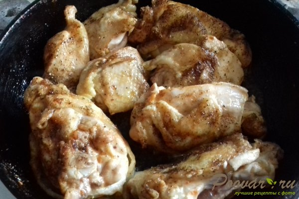 Курица на овощной подушке Шаг 5 (картинка)