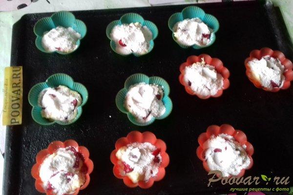 Кексы творожные со сливой и киселём Шаг 8 (картинка)