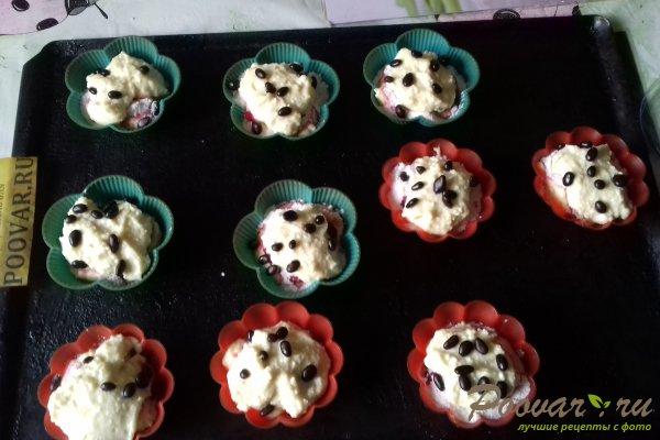 Кексы творожные со сливой и киселём Шаг 9 (картинка)