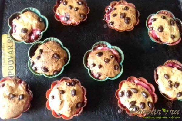 Кексы творожные со сливой и киселём Шаг 10 (картинка)