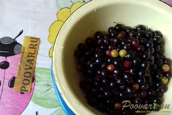 Cырое варенье из чёрной смородины и крыжовника Шаг 3 (картинка)
