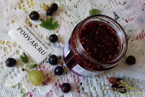 Cырое варенье из чёрной смородины и крыжовника Шаг 10 (картинка)