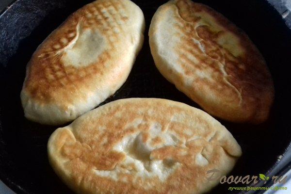 Жареные пирожки с абрикосом из бездрожжевого теста Шаг 11 (картинка)