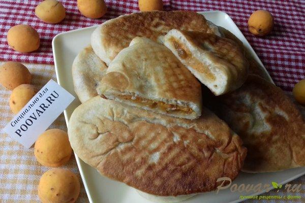 Жареные пирожки с абрикосом из бездрожжевого теста Шаг 13 (картинка)
