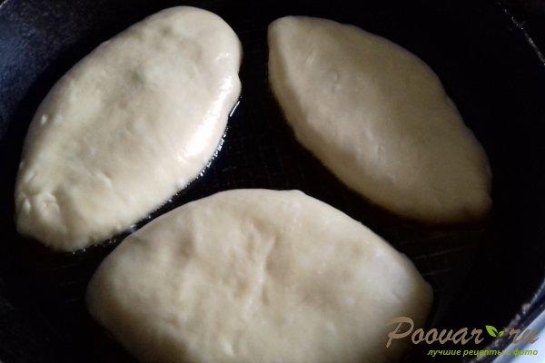 Жареные пирожки с абрикосом из бездрожжевого теста Шаг 10 (картинка)