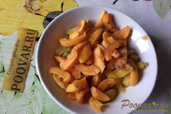 Жареные пирожки с абрикосом из бездрожжевого теста Шаг 5 (картинка)