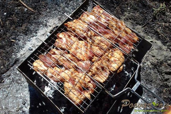 Свиной подчеревок с горчицей на мангале Шаг 8 (картинка)